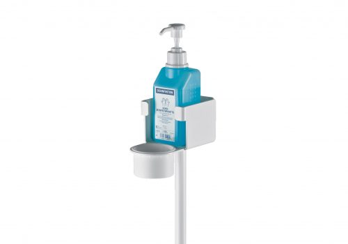 Disinfectant stand with bracket