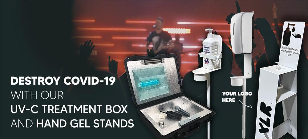 Protégez-Vous Grâce à Notre Boîte De Traitement UV-C Et Nos Stands De Désinfectant Personnalisés 1