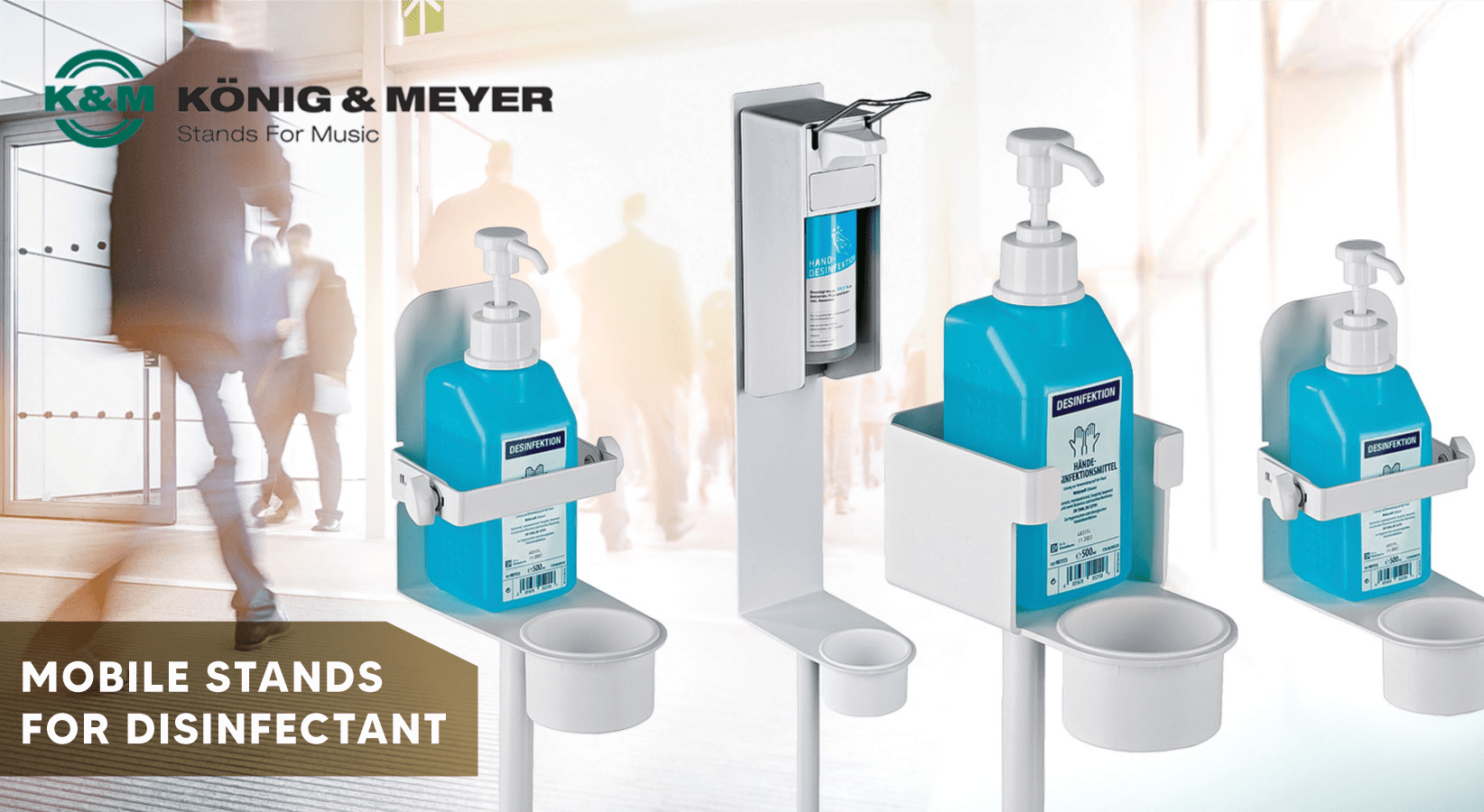 K&M Disinfectant Stands