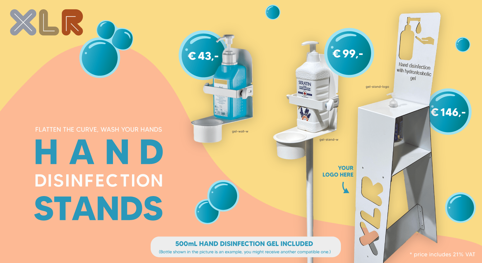 Mobile disinfection stands