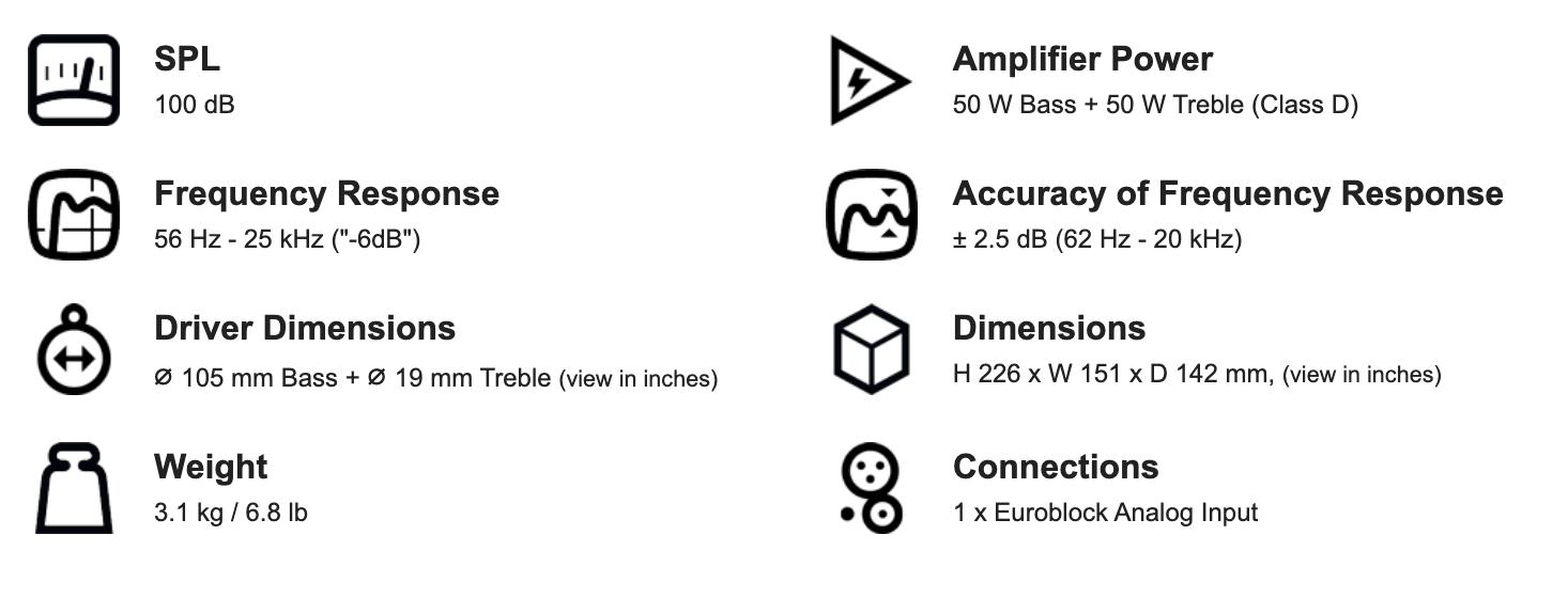 """Genelec 4020B 4"""" Two-Way Active Loudspeaker 4"""
