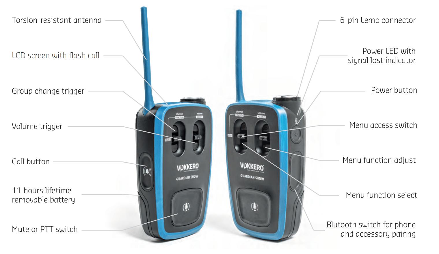 Vokkero Guardian Show - Wireless Full Duplex Intercom System 2