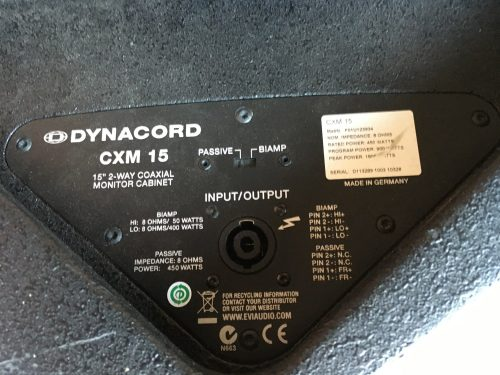 Dynacord CXM15 Passieve 2-Weg Monitor Incl. Trolley (Set van 8) | XLR