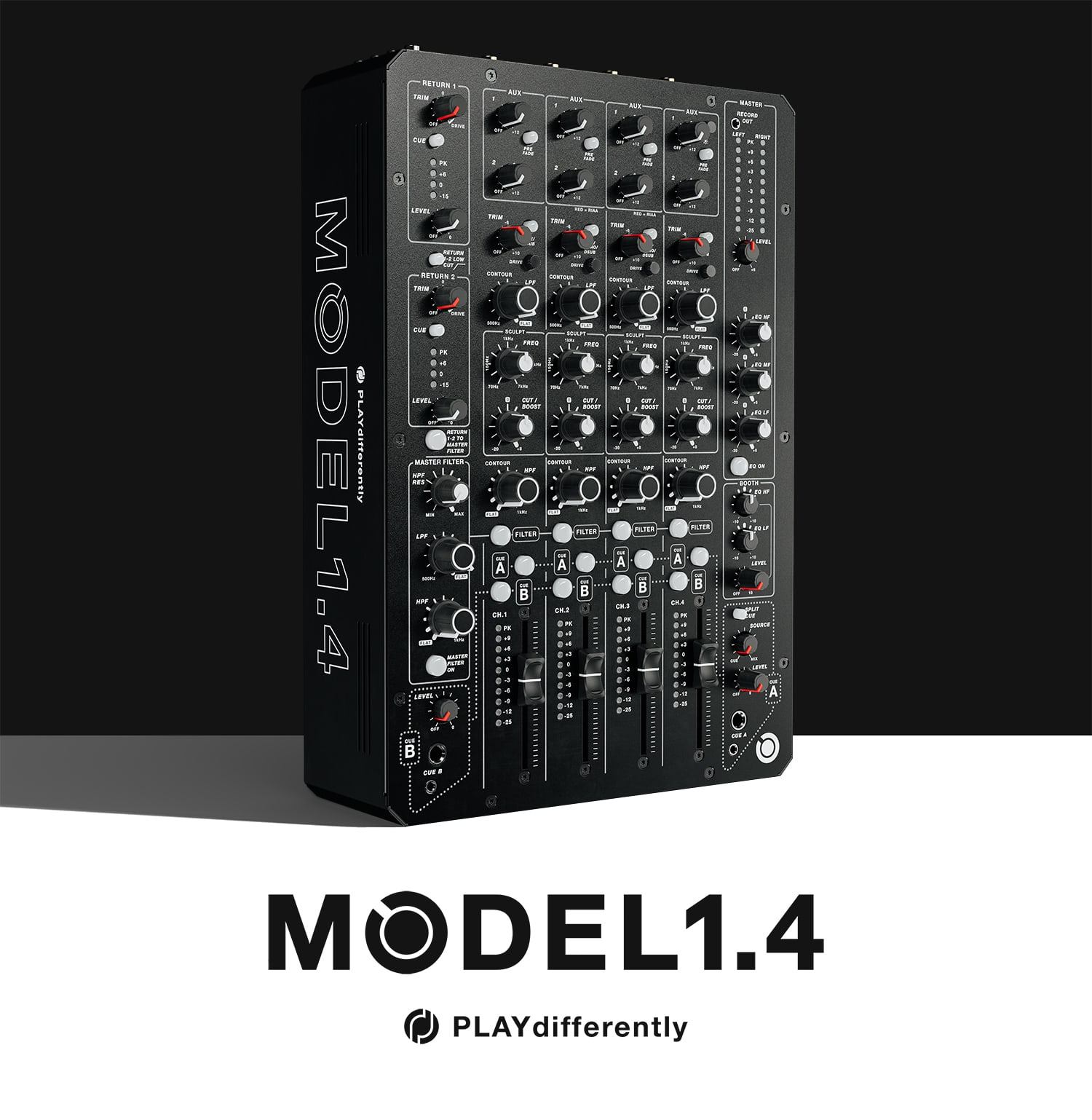 PLAYdifferently Releases MODEL 1.4  - 4-Channel Analogue DJ Mixer | XLR
